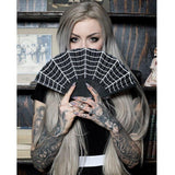 Sourpuss Hand Fans Spiderweb Fan