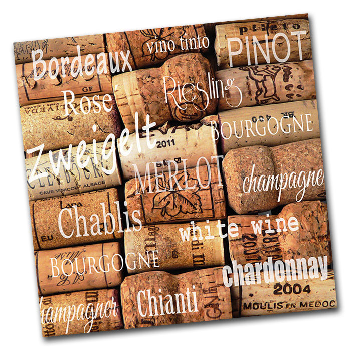 Wine Corks Paper Napkins - Luncheon