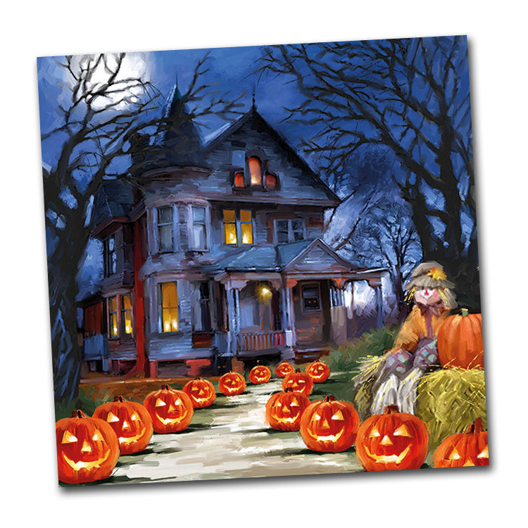 Haunted House Halloween Luncheon Napkins