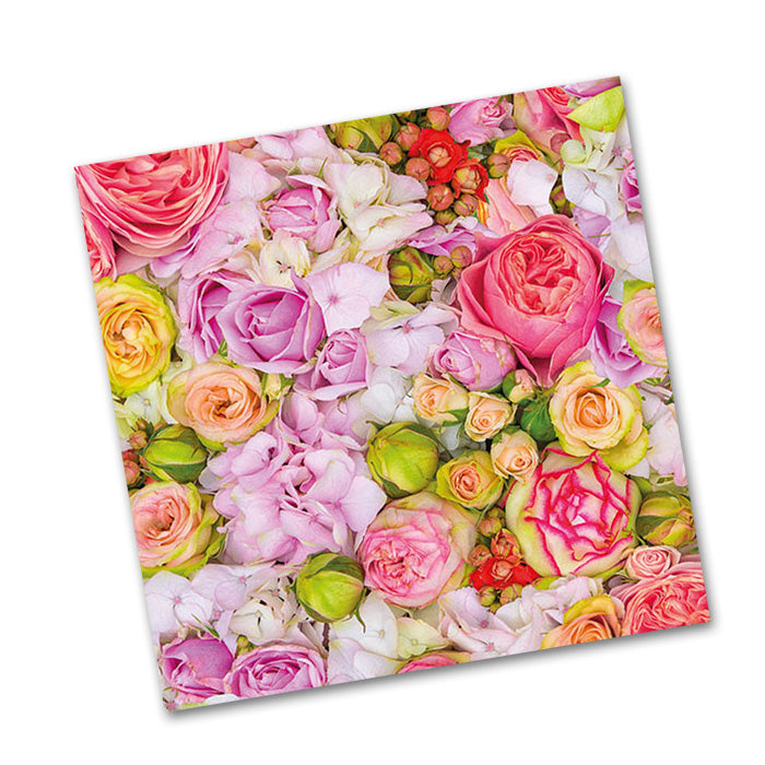 Bed of Roses Beverage Napkins