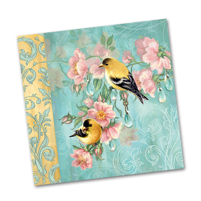 Goldfinch Botanical Beverage Napkins
