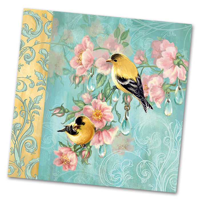Goldfinch Botanical Luncheon Napkins