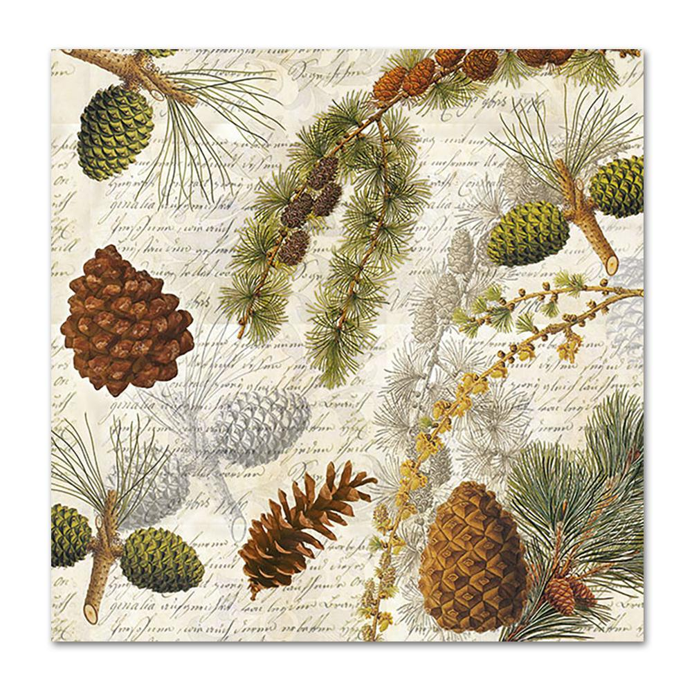 Forest Botanical Paper Napkins - Luncheon