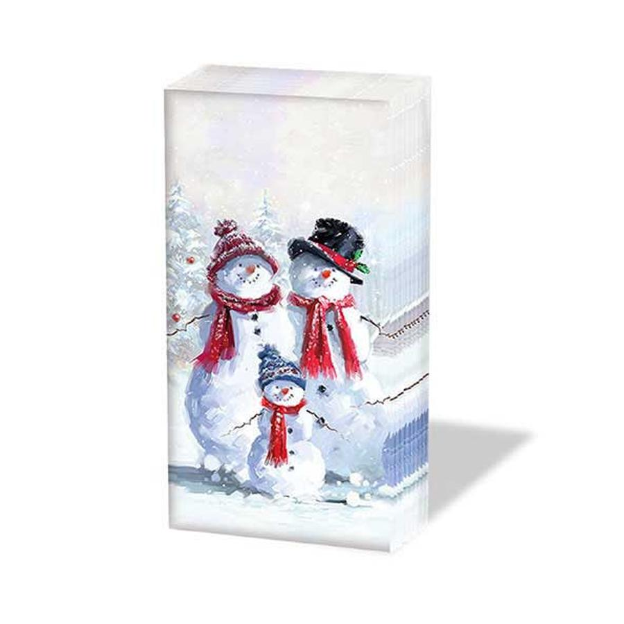 Snowman Family Paper Pocket Tissues