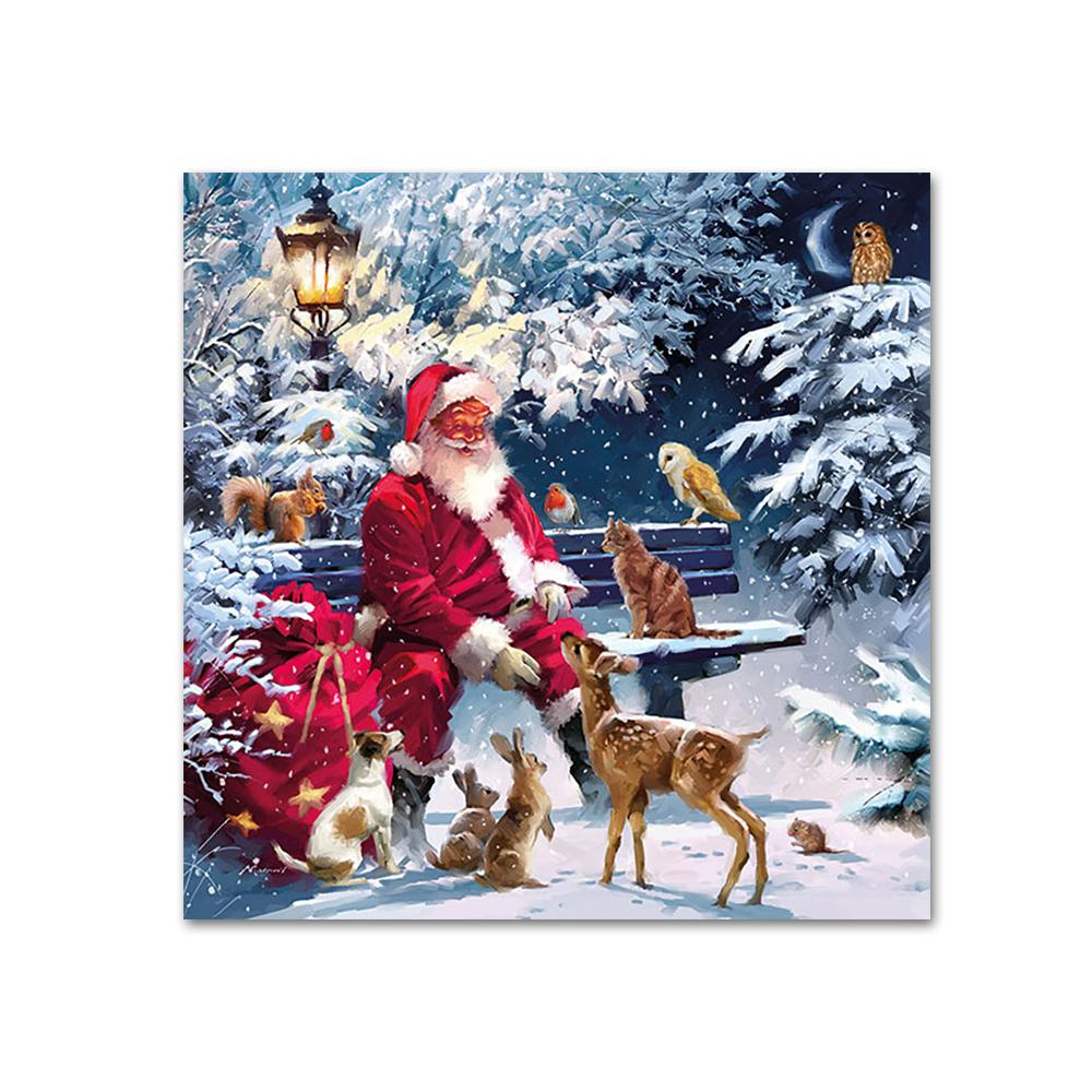 Santa and Friends Paper Napkins - Beverage