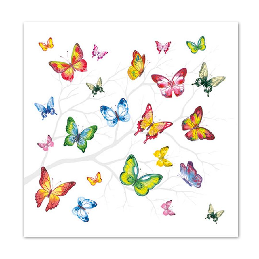 Butterfly Colors Luncheon Napkins