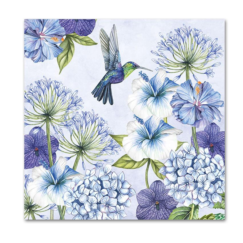 Hummingbird Garden Luncheon Napkins