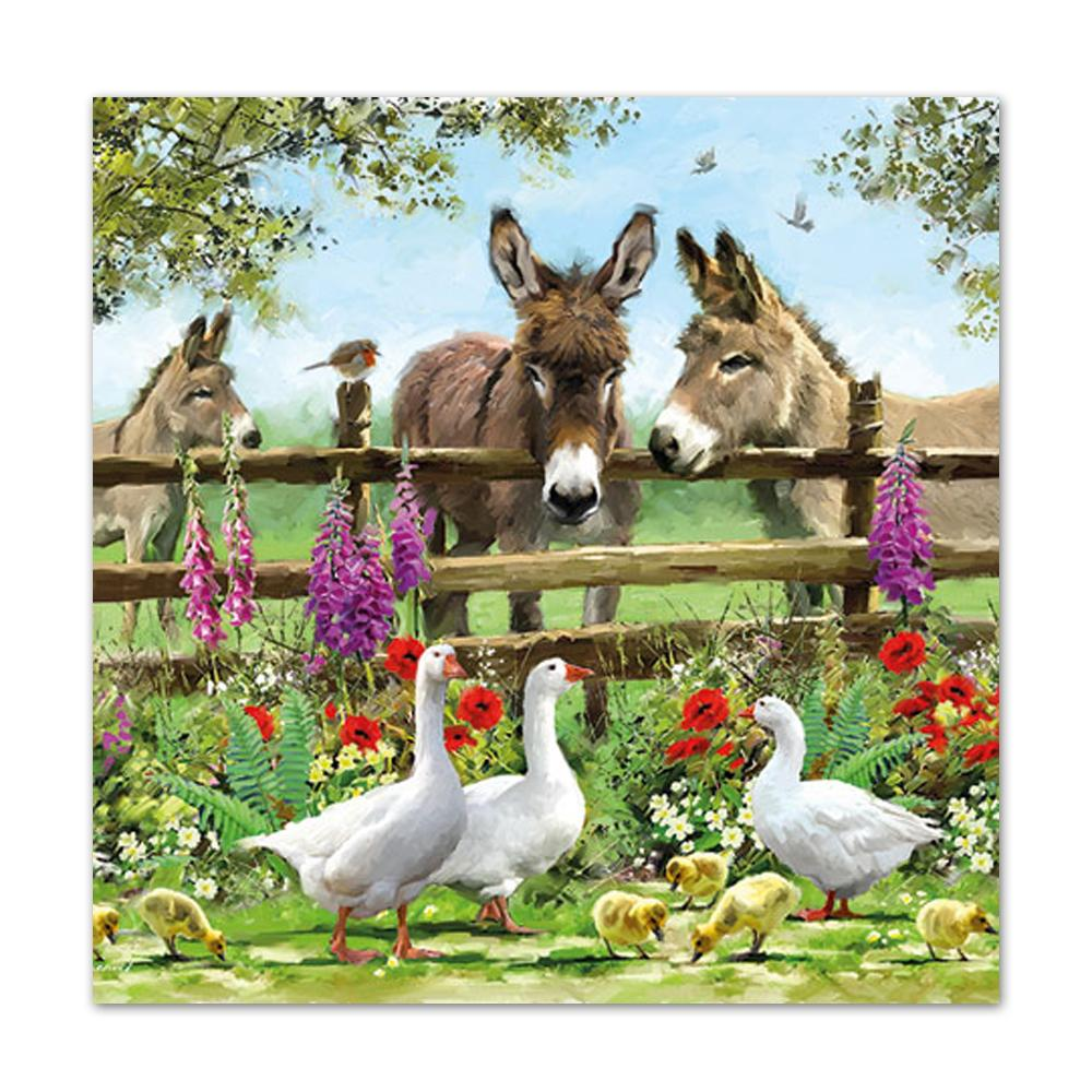 Summertime Donkeys Luncheon Napkins