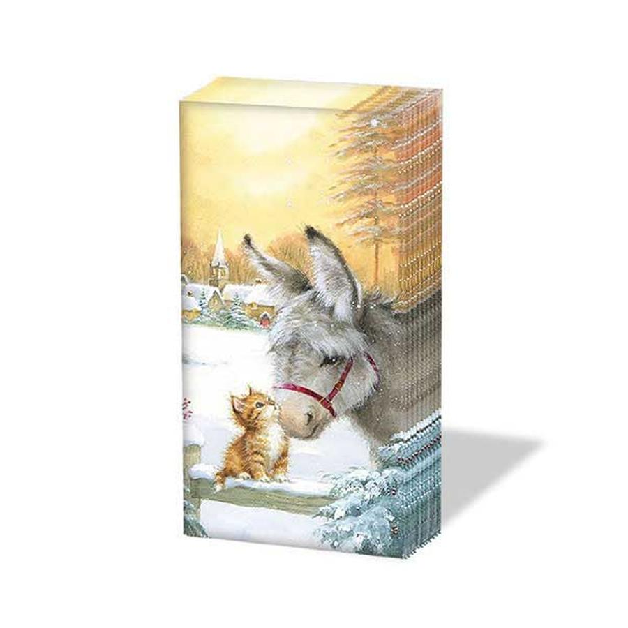 Donkey and Kitten Paper Pocket Tissues
