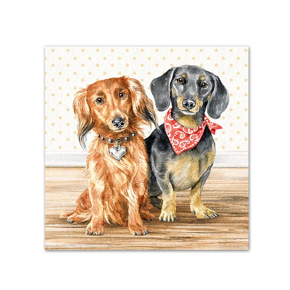 Dachshund Friends Beverage Napkins