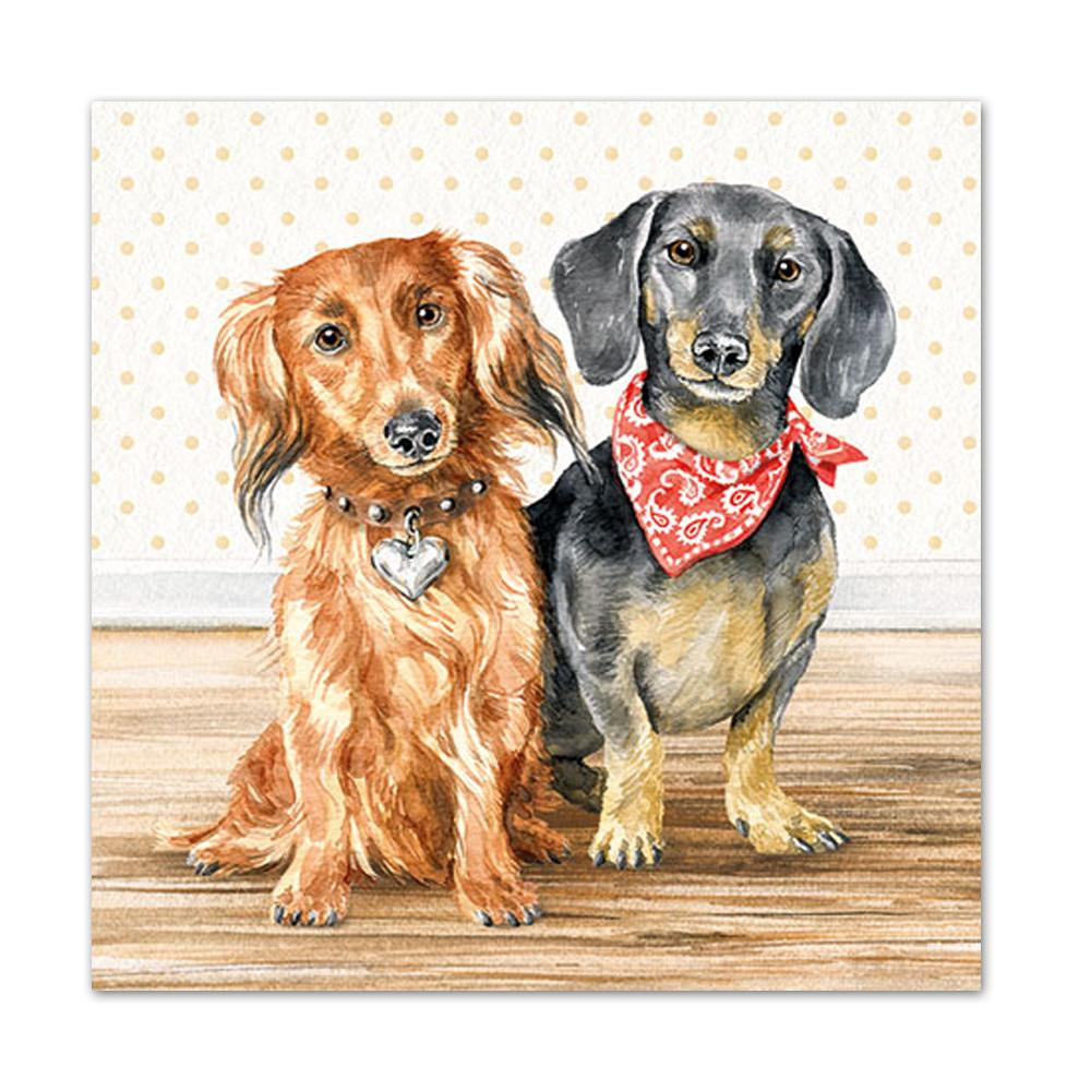 Dachshund Friends Luncheon Napkins