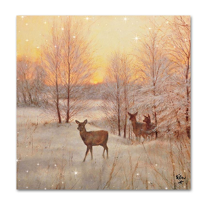 Deer at Sunset Luncheon Napkins