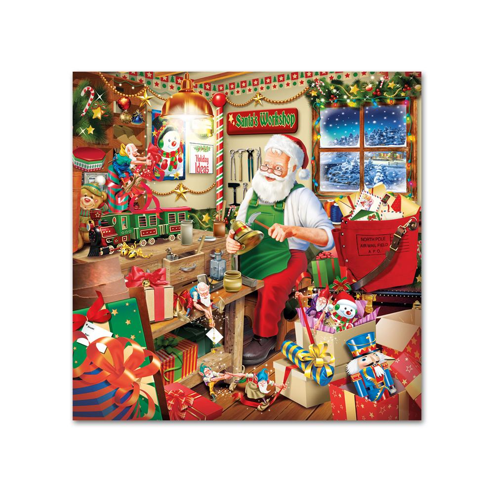 Santa's Workshop Paper Beverage Napkins