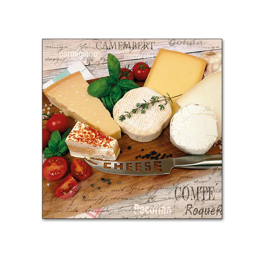 Palette of Cheeses Paper Beverage Napkins