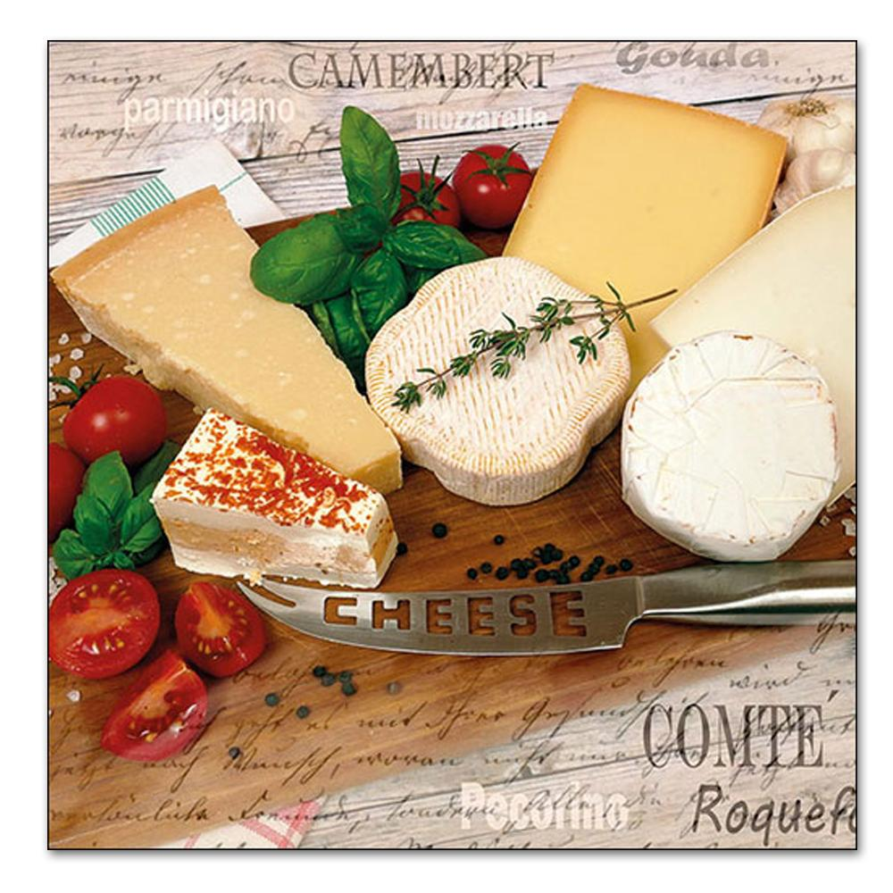 Palette of Cheeses Paper Luncheon Napkins