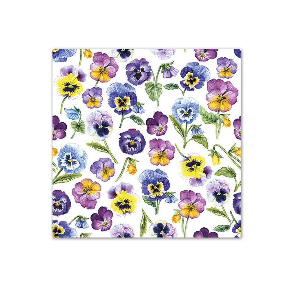 Pansies All Over Paper Beverage Napkins
