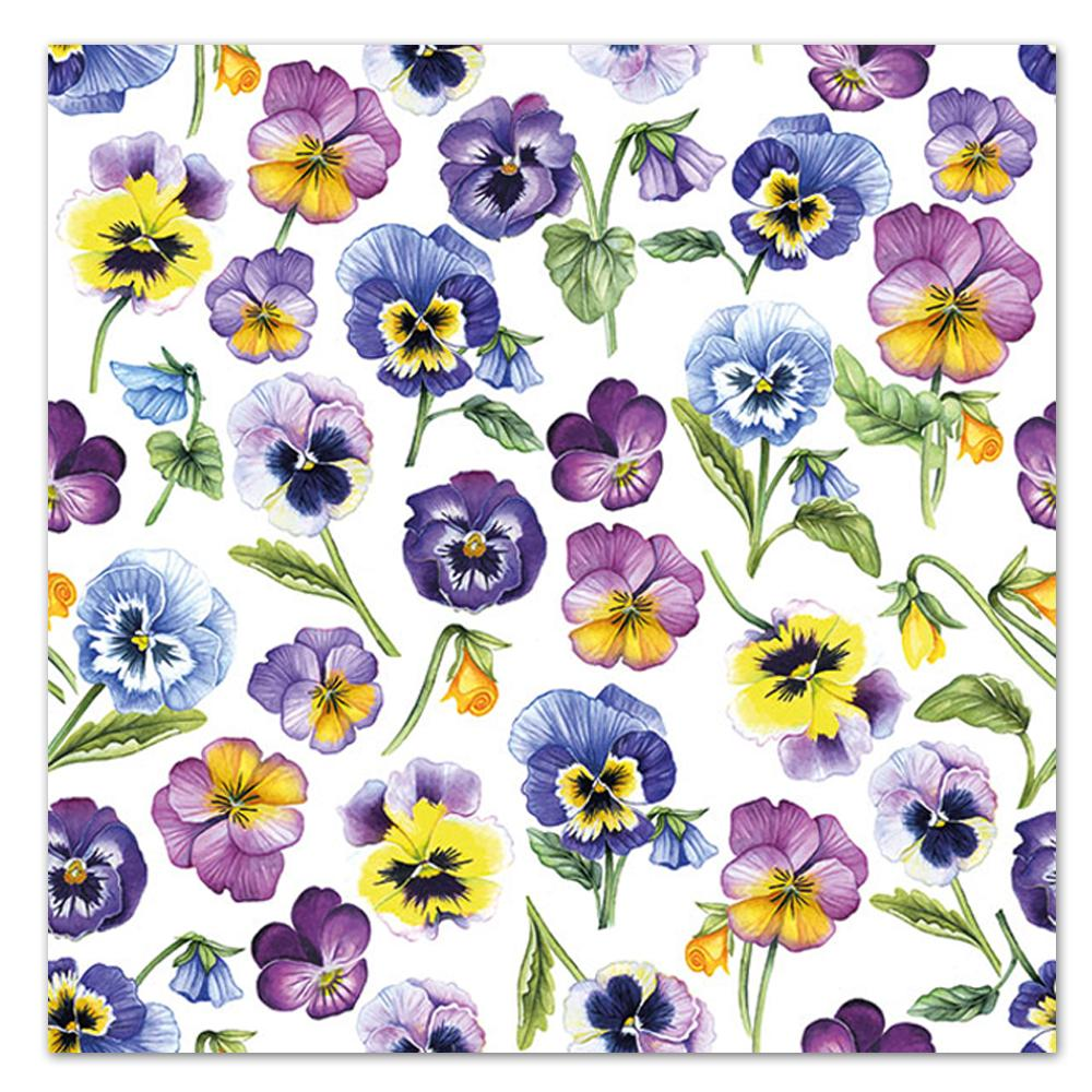 Pansies All Over Paper Luncheon Napkins
