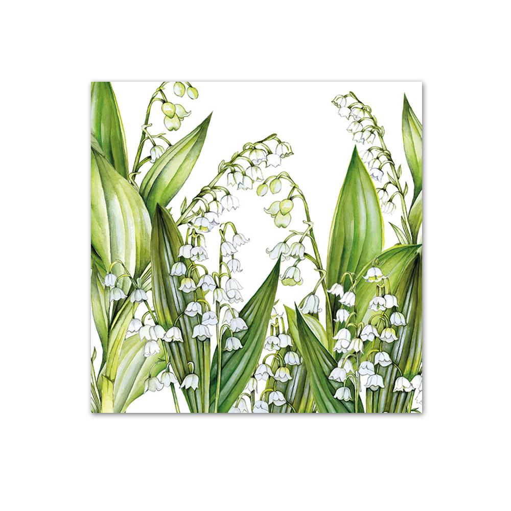 Sweet Lilies Paper Beverage Napkins