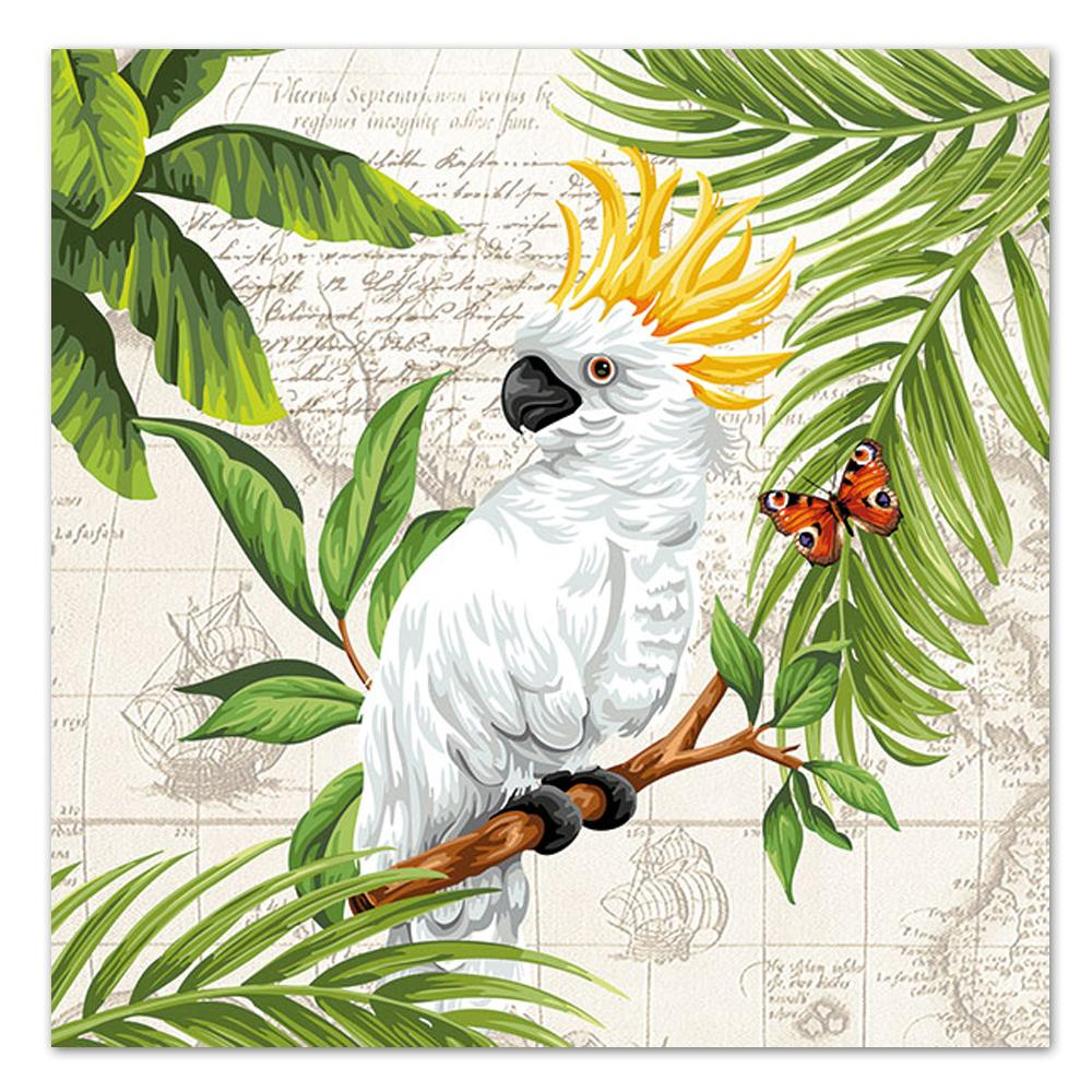 Cockatoo Parrot Paper Luncheon Napkins