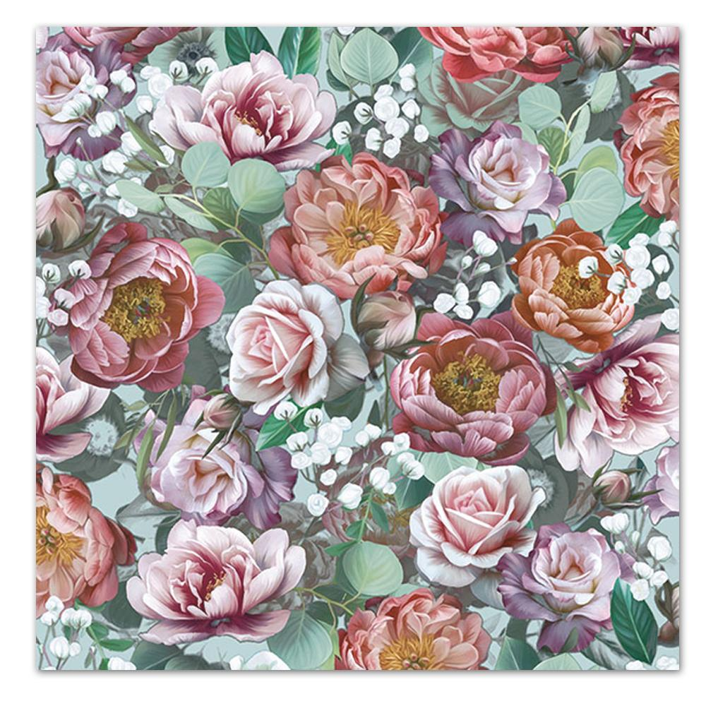 Vintage Flowers Paper Luncheon Napkins