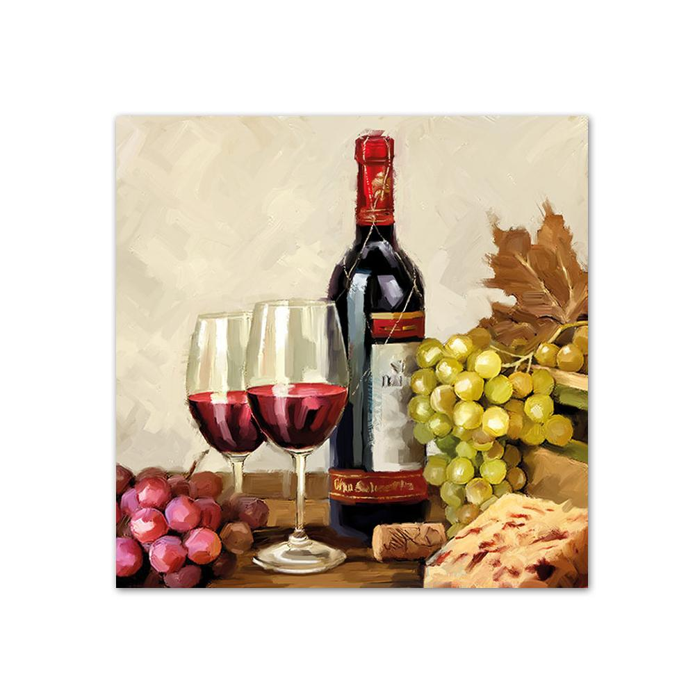 Wine & Grapes Paper Beverage Napkins