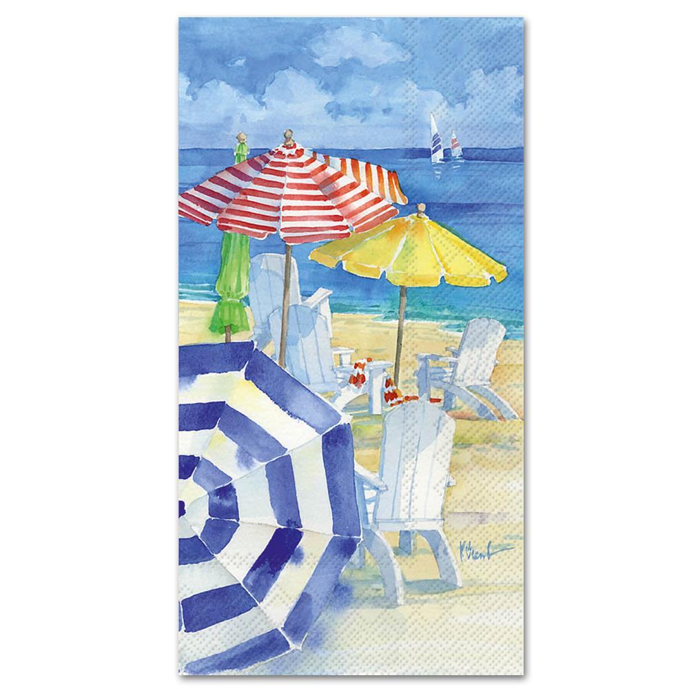 Watercolor Beach Paper Guest Towels