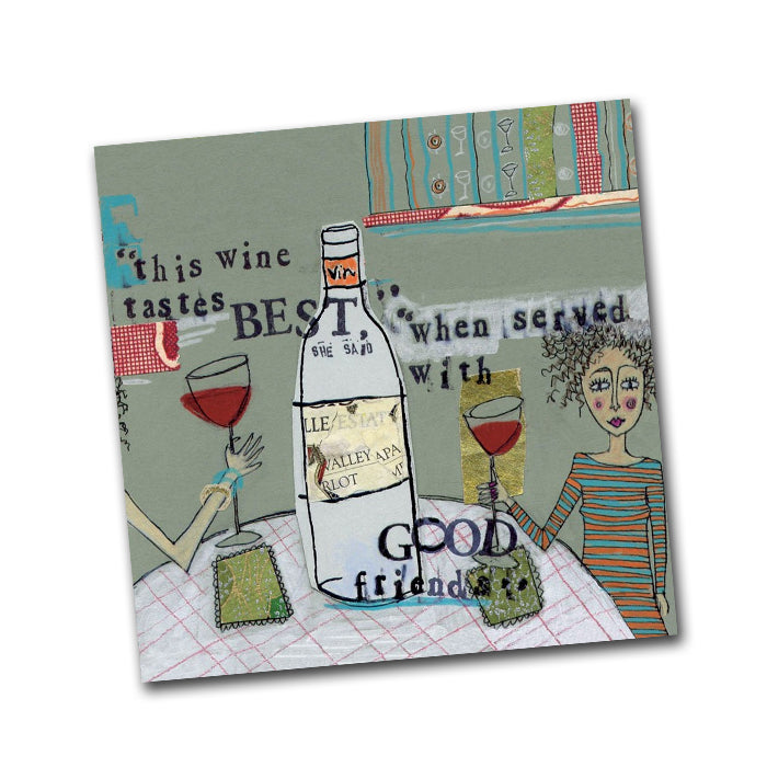 Curly Girl - Wine Taste Best Cocktail Napkins