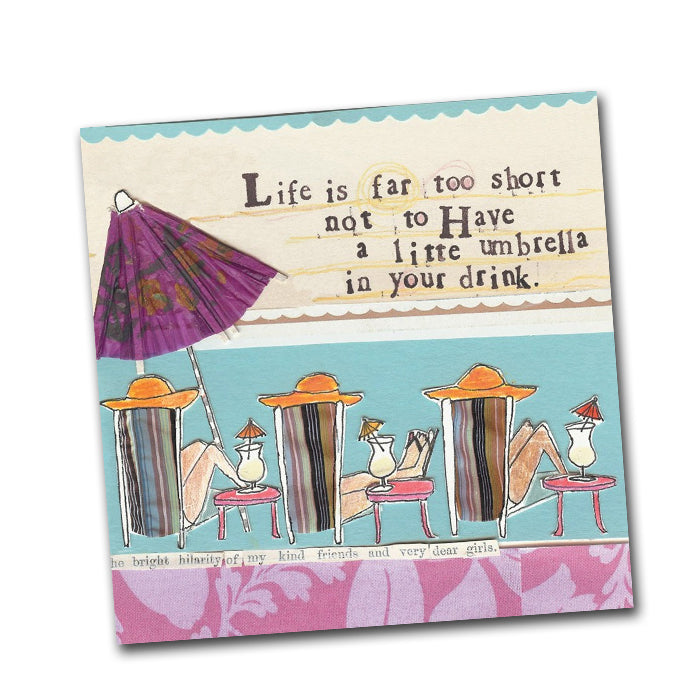 Curly Girl - Little Umbrella Cocktail Napkin