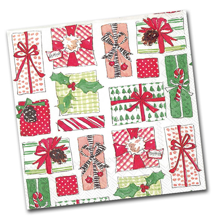 Christmas Gifts Paper Napkins - Luncheon