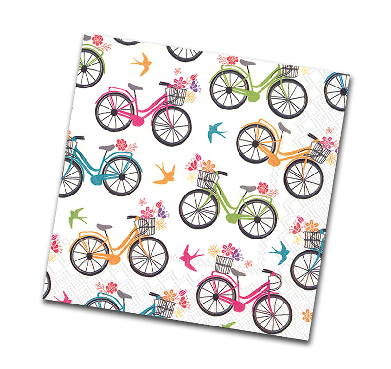 Enjoy the Ride, Bicycle Beverage Napkin