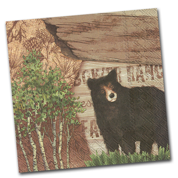 Bear Country Paper Luncheon Napkin