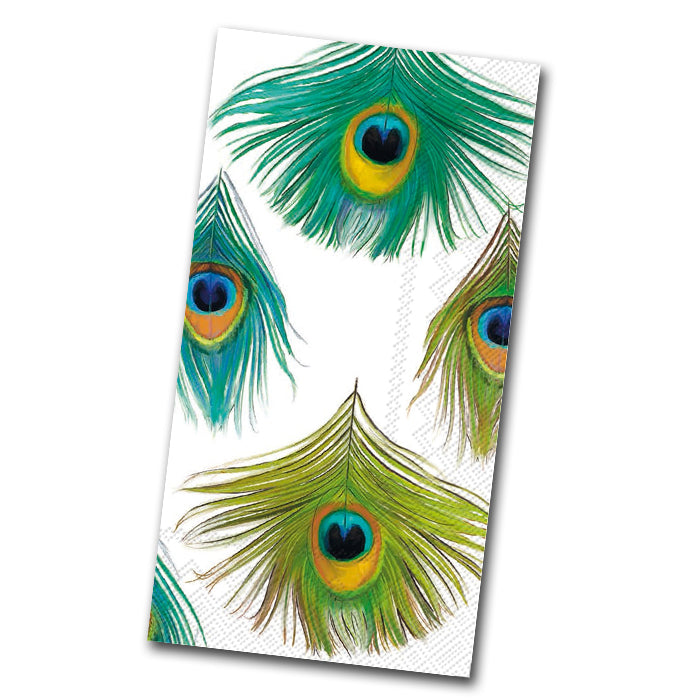 Peacock Feathers Paper Guest Towels