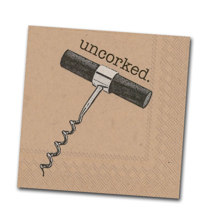 Uncorked Paper Cocktail Napkin
