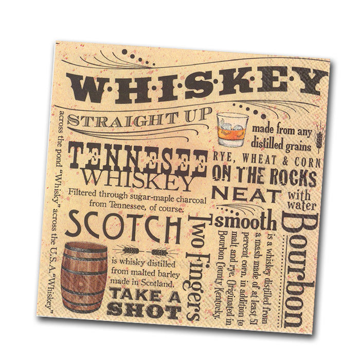 Whiskey Lovers Paper Cocktail Napkin