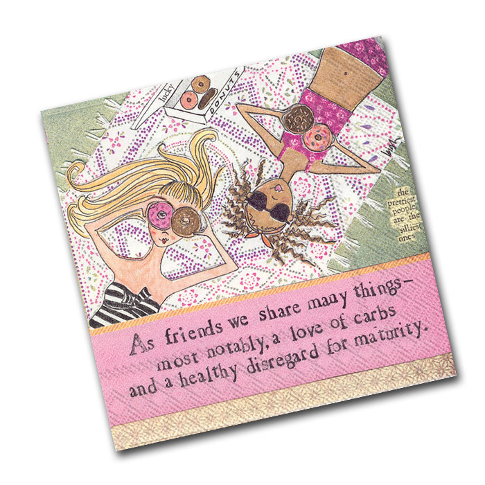 Curly Girl - Maturity Funny Cocktail Napkins