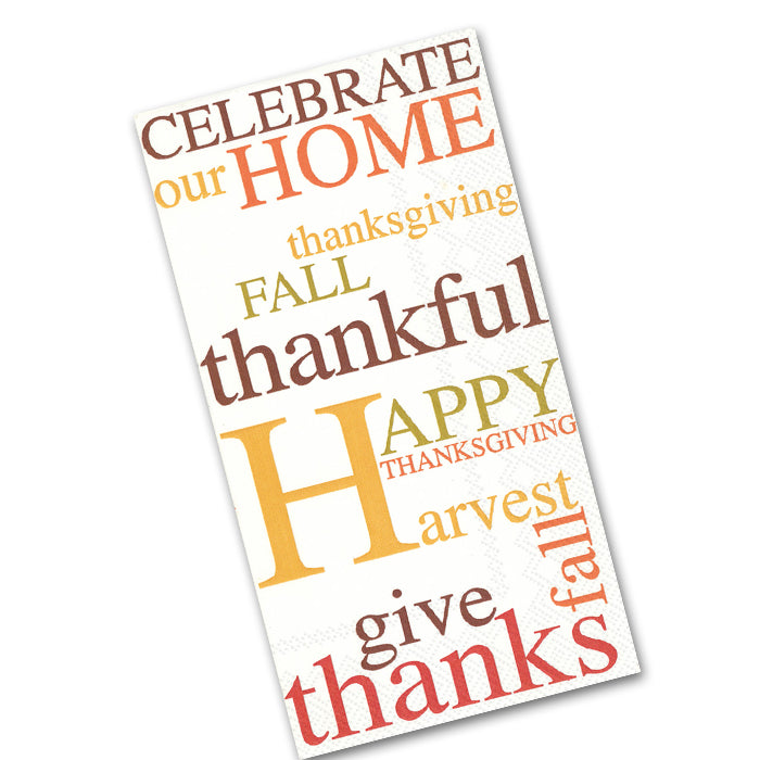 Celebrate Our Home Thanksgiving Paper Guest Towels
