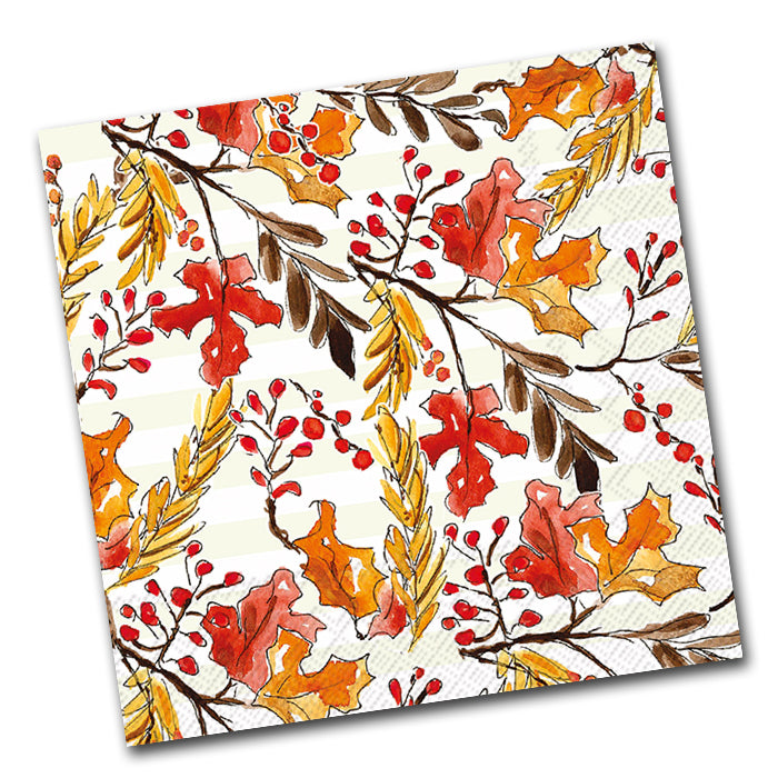 Amber Foliage Paper Luncheon Napkins