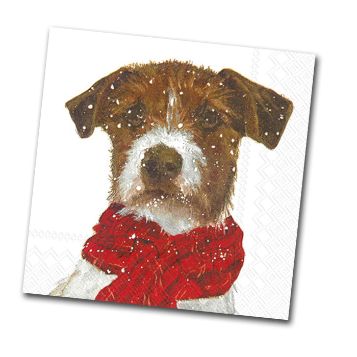 Archie the Terrier Beverage Napkin