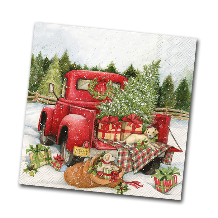 Christmas Delivery Beverage Napkin