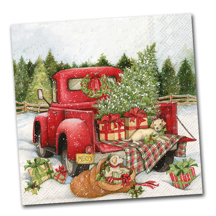 Christmas Delivery Lunch Napkin