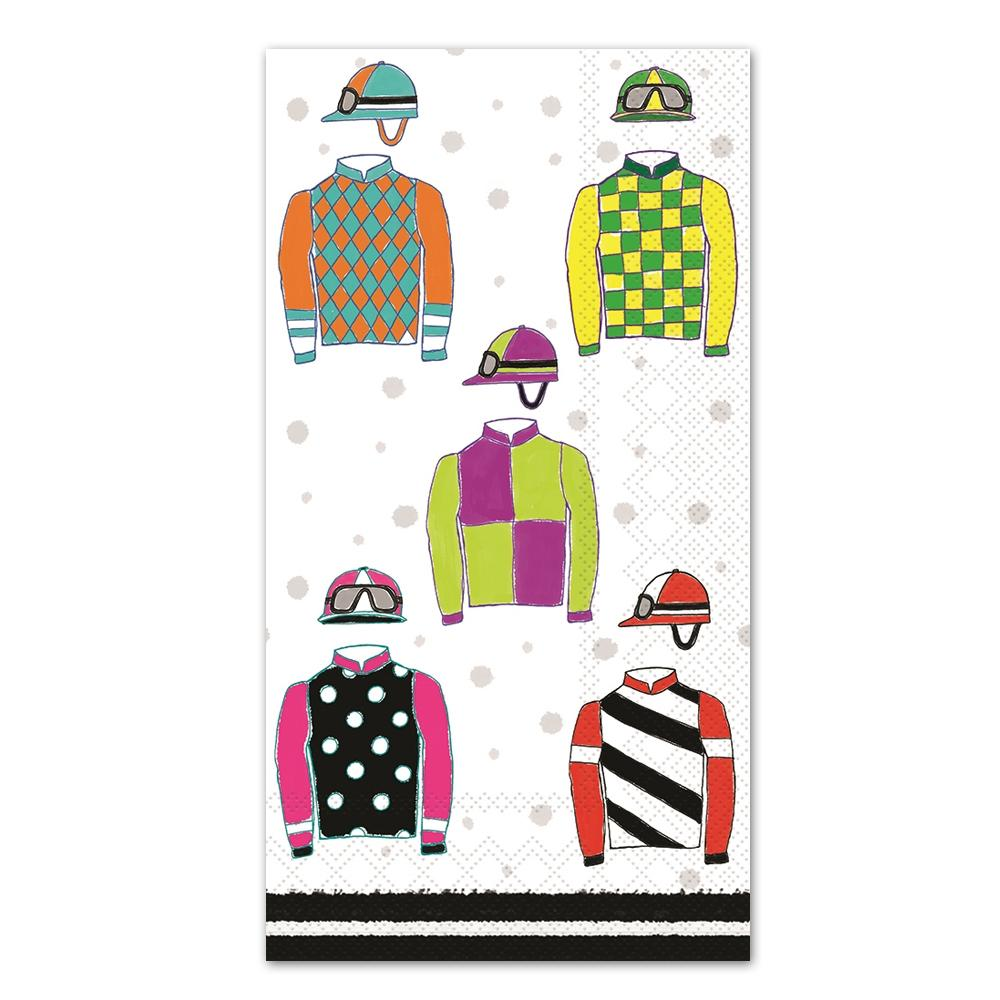 Racing Silks Paper Guest Towels - Buffet Napkins
