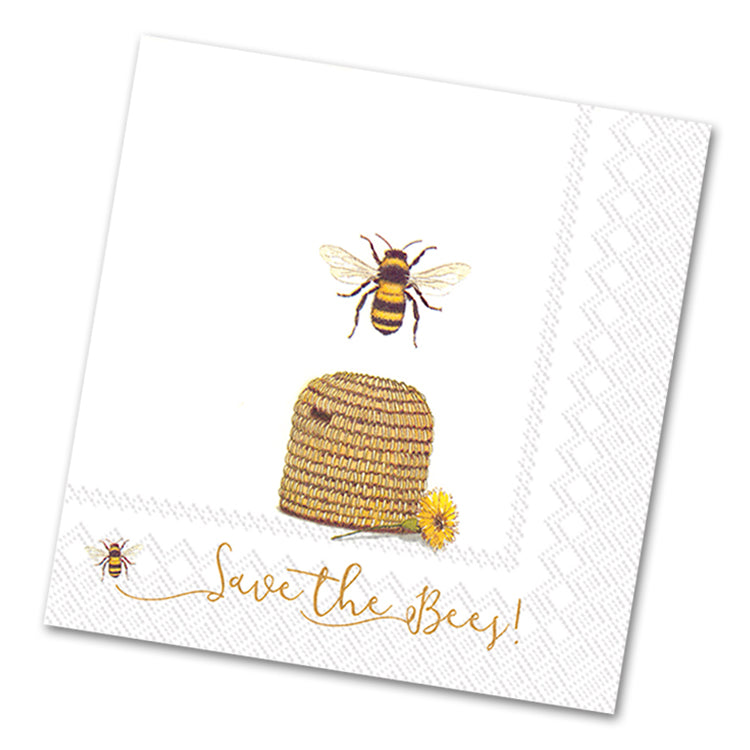 Save the Honey Bees Paper Luncheon Napkins