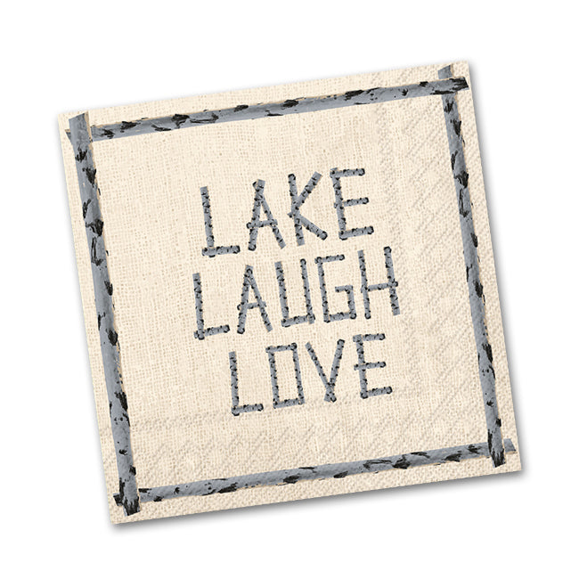 Lake Laugh Love Paper Beverage Napkins