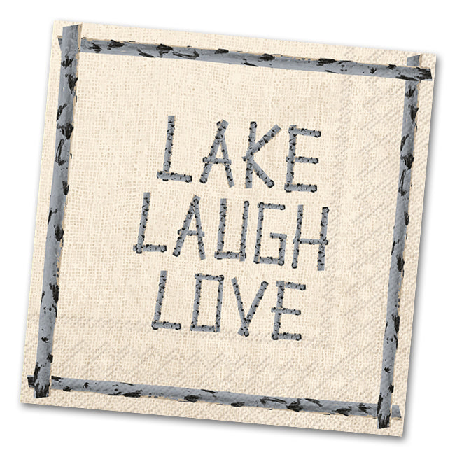 Lake Laugh Love Paper Luncheon Napkins