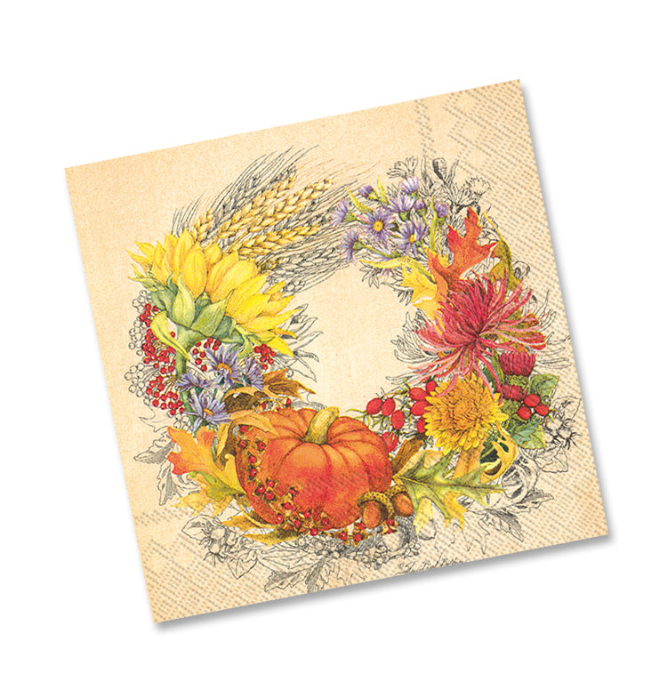 Beautiful Harvest Beverage Napkins