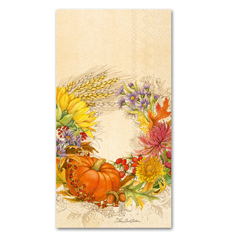 Beautiful Harvest Paper Guest Towels - Buffet Napkins