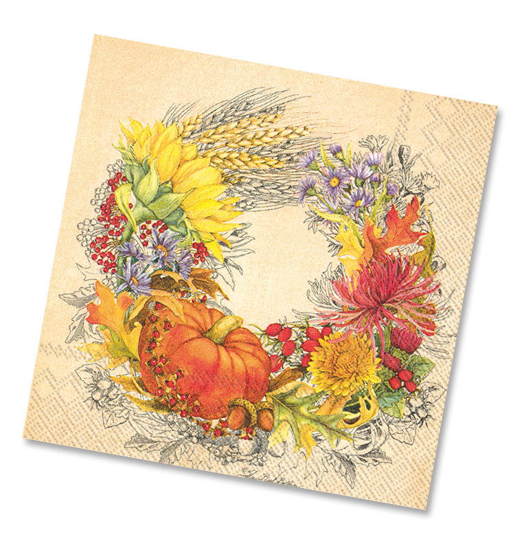 Beautiful Harvest Luncheon Napkins