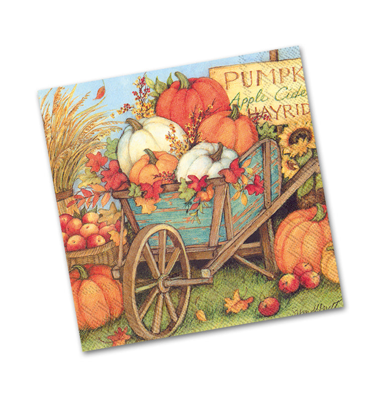 Pumpkin Crop Beverage Napkins