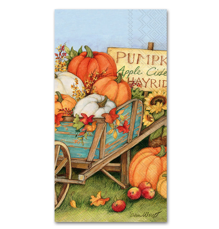 Pumpkin Crop Guest Towels - Buffet Napkins