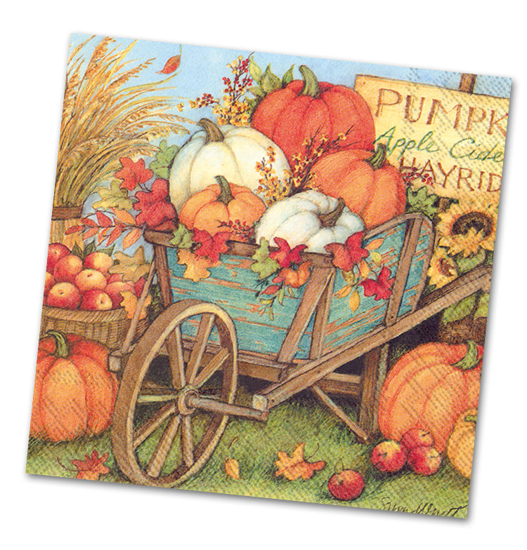 Pumpkin Crop Luncheon Napkins